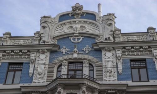 Zdjecie ŁOTWA / - / Ryga / architektura secesyjna w Rydze