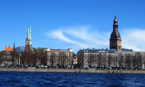 Zdjęcie ŁOTWA / Ryga / Ryga / widok na Rygę z Dźwiny