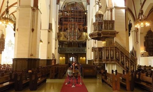 Zdjecie ŁOTWA / Ryga / Ryga / katedra protestancka - wnętrze