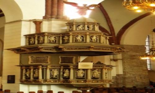 Zdjęcie ŁOTWA / Ryga / Ryga / katedra protestancka - ambona
