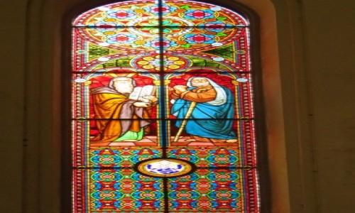 Zdjęcie ŁOTWA / Ryga / Ryga / katedra protestancka - witraż