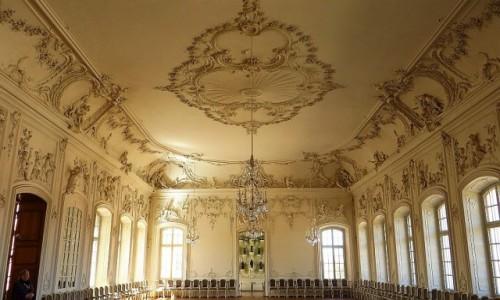 Zdjęcie ŁOTWA / Kurlandia / Rundale / pałac w Rundale - sala balowa