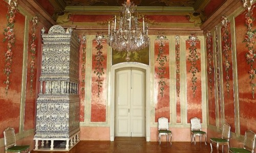 Zdjęcie ŁOTWA / Kurlandia / Rundale / pałac w Rundale - Sala Różana
