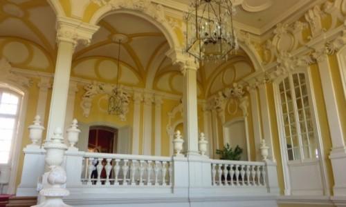 Zdjecie ŁOTWA / Kurlandia / Rundale / pałac w Rundale - klatka schodowa