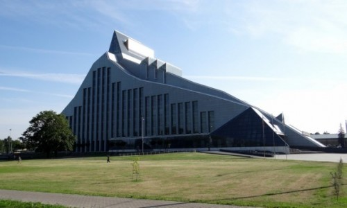 ŁOTWA / Riga / Centrs / Kosmiczna Biblioteka Narodowa