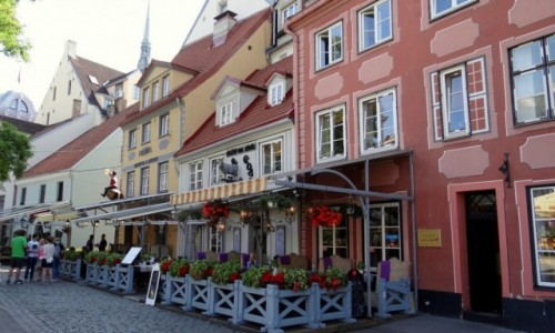 Zdjęcie ŁOTWA / Riga / Centrs / Kamieniczki na starym mieście