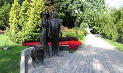 ŁOTWA / Riga / Centrs / W parku przy operze