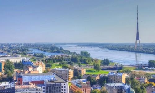 Zdjecie ŁOTWA / Ryga / Ryga / Panorama wschodniej Rygi