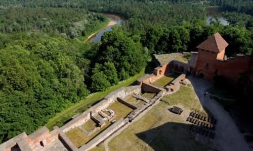 Zdjecie ŁOTWA / - / Turaida / Zamek Turaida. Widok z zamkowej wieży.