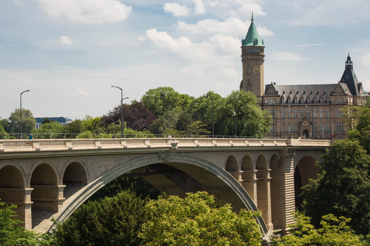 Zdjęcia: LUKSEMBURG, LUKSEMBURG, Zabytkowy wiadukt, LUKSEMBURG