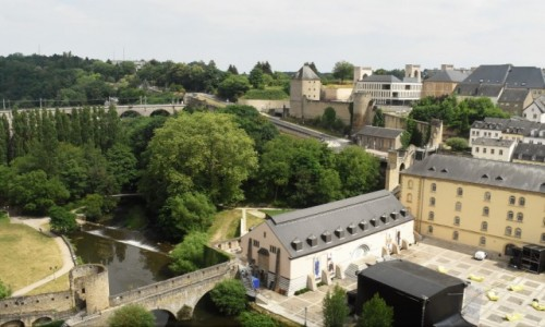 Zdjecie LUKSEMBURG / Stolica / Luksemburg / Luksemburg, mała panorama
