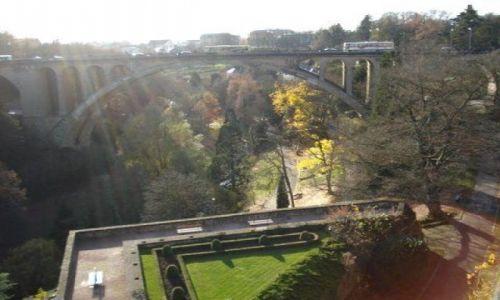 LUKSEMBURG / centrum miasta / Luxemburg / taras widokowy