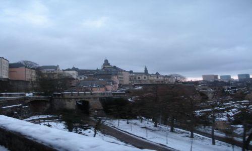 LUKSEMBURG / - / Luksemburg / Luksemburg zimowym wieczorem