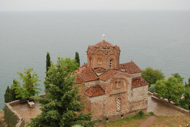 Zdjęcia: Cerkiew Świętego Jovana Kaneo z XIIIw , Ohrid, Cerkiew Świętego Jovana Kaneo, MACEDONIA