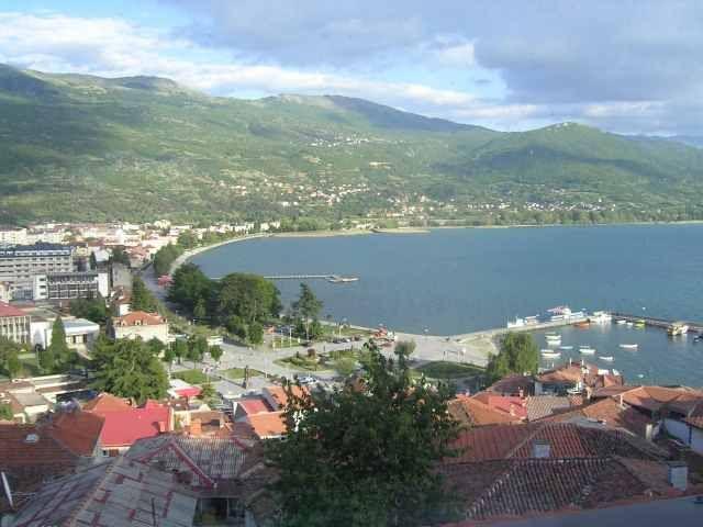 Zdjęcia: Ohryd, Widok z kwatery na jezioro Ohrydzkie, MACEDONIA