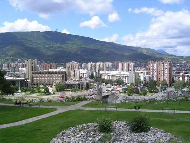 Zdjęcia: Skopje, panorama Skopje, MACEDONIA