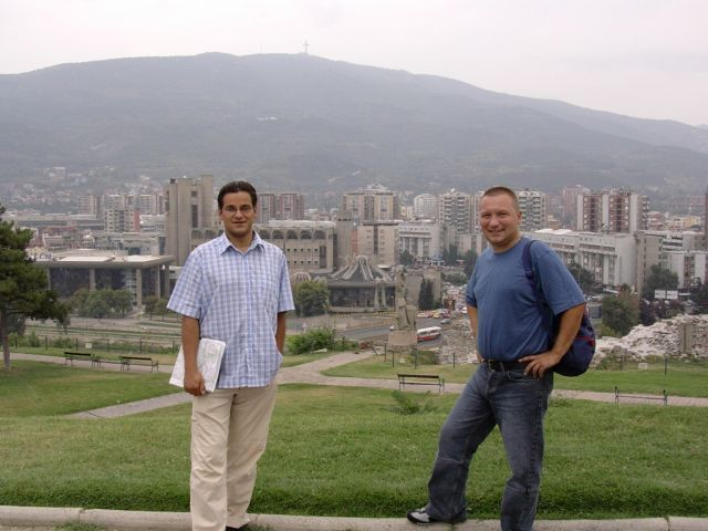 Zdjęcia: Skopie, Macedonia, Widok na centrum Skopie, MACEDONIA