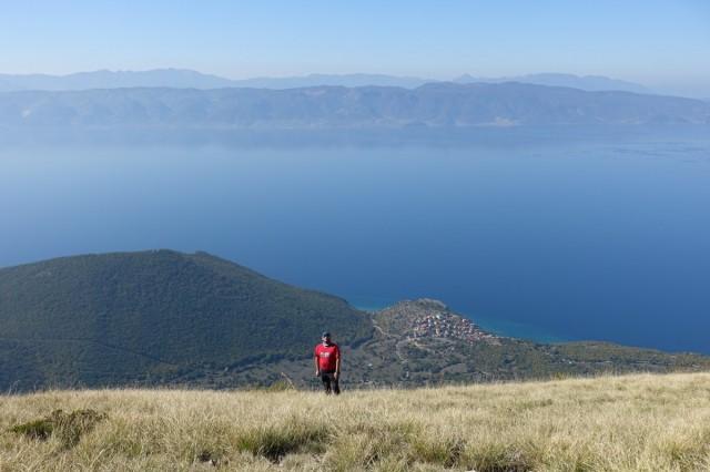 Zdjęcia: Park Narodowy Galiczica, Widok na Jezioro Ochrydzkie z kapliczki św. Grzegorza, MACEDONIA