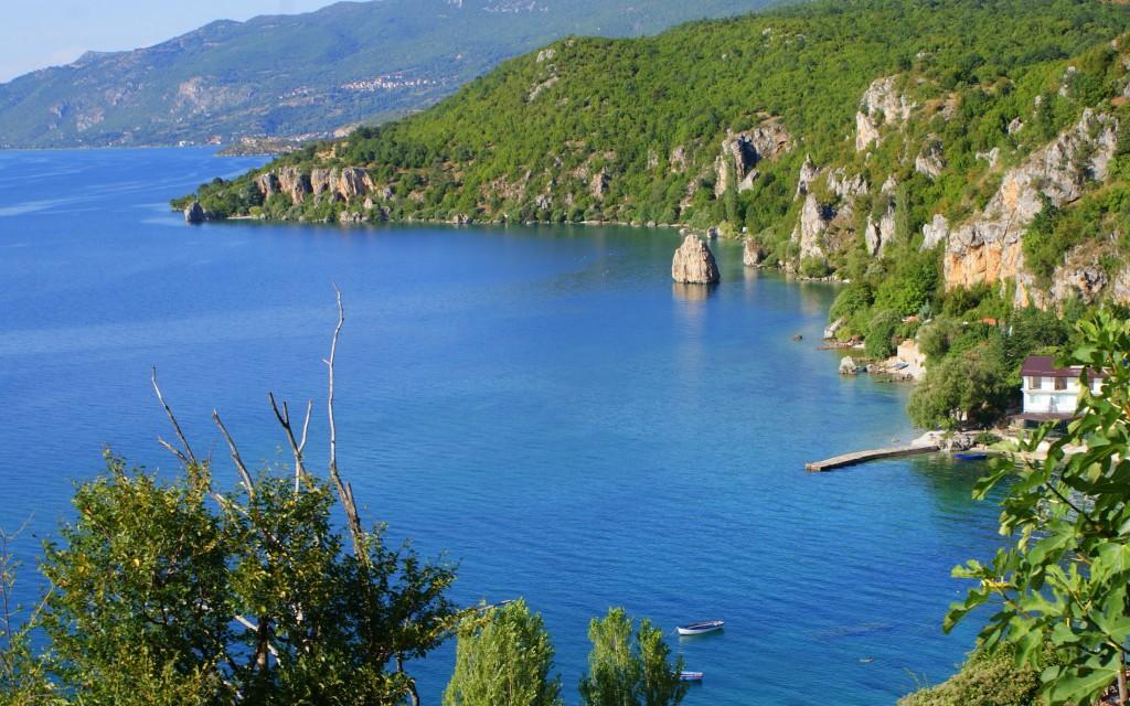 """Zdjęcia: Jezioro Ochrydzkie, Południowy Wschód Macedoni, """"Macedoński Adriatyk"""", MACEDONIA"""