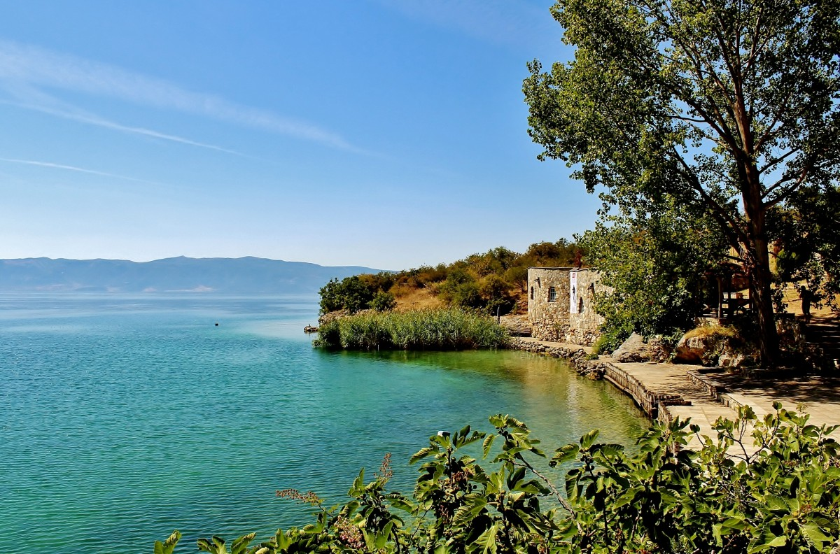 Zdjęcia: Pesztani, Ochryda, Nad jeziorem Ochrydzkim, MACEDONIA