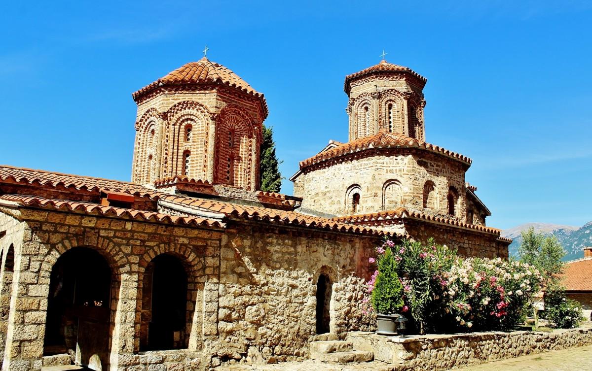 Zdjęcia: Sveti Naum, Ochryda, Klasztor świętego Nauma z 905 roku, MACEDONIA