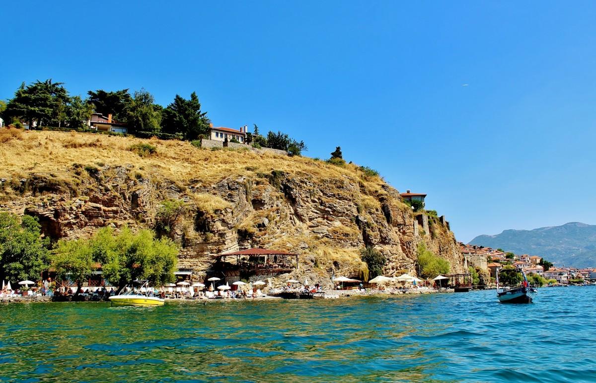Zdjęcia: Ochryda, płd.-zach.Macedonia Północna, Nad jeziorem Ochrydzkim, MACEDONIA