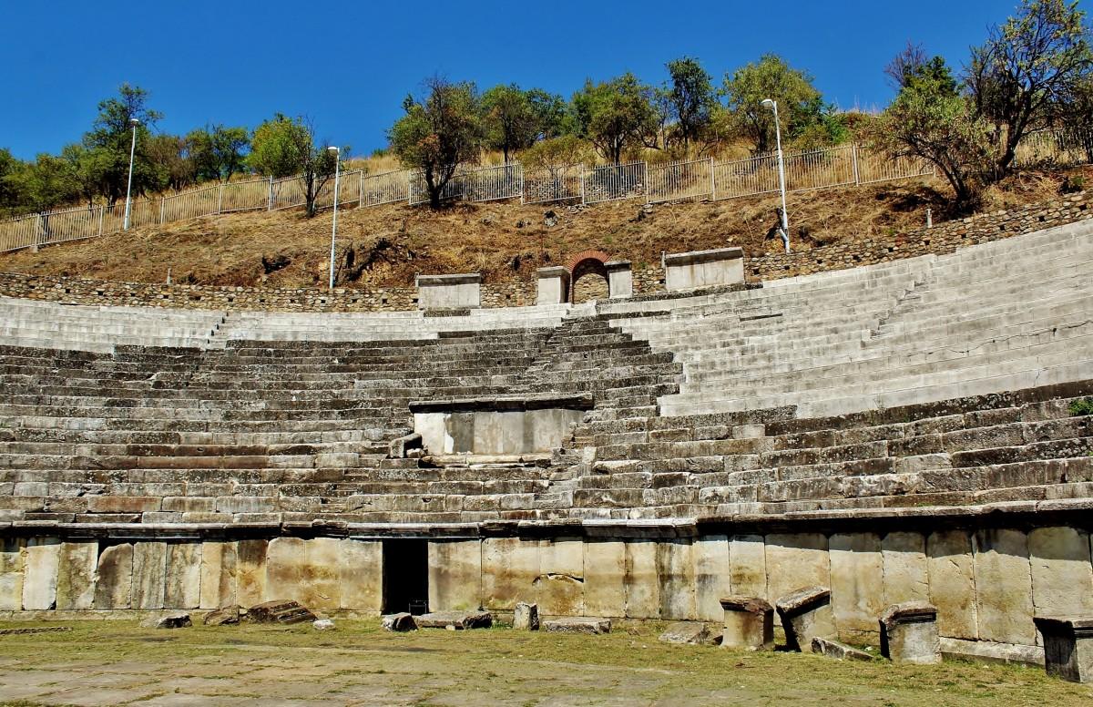 Zdjęcia: Bitola, płd.-zach.Macedonia Północna, Heraklea Linkestis - ruiny teatru, MACEDONIA