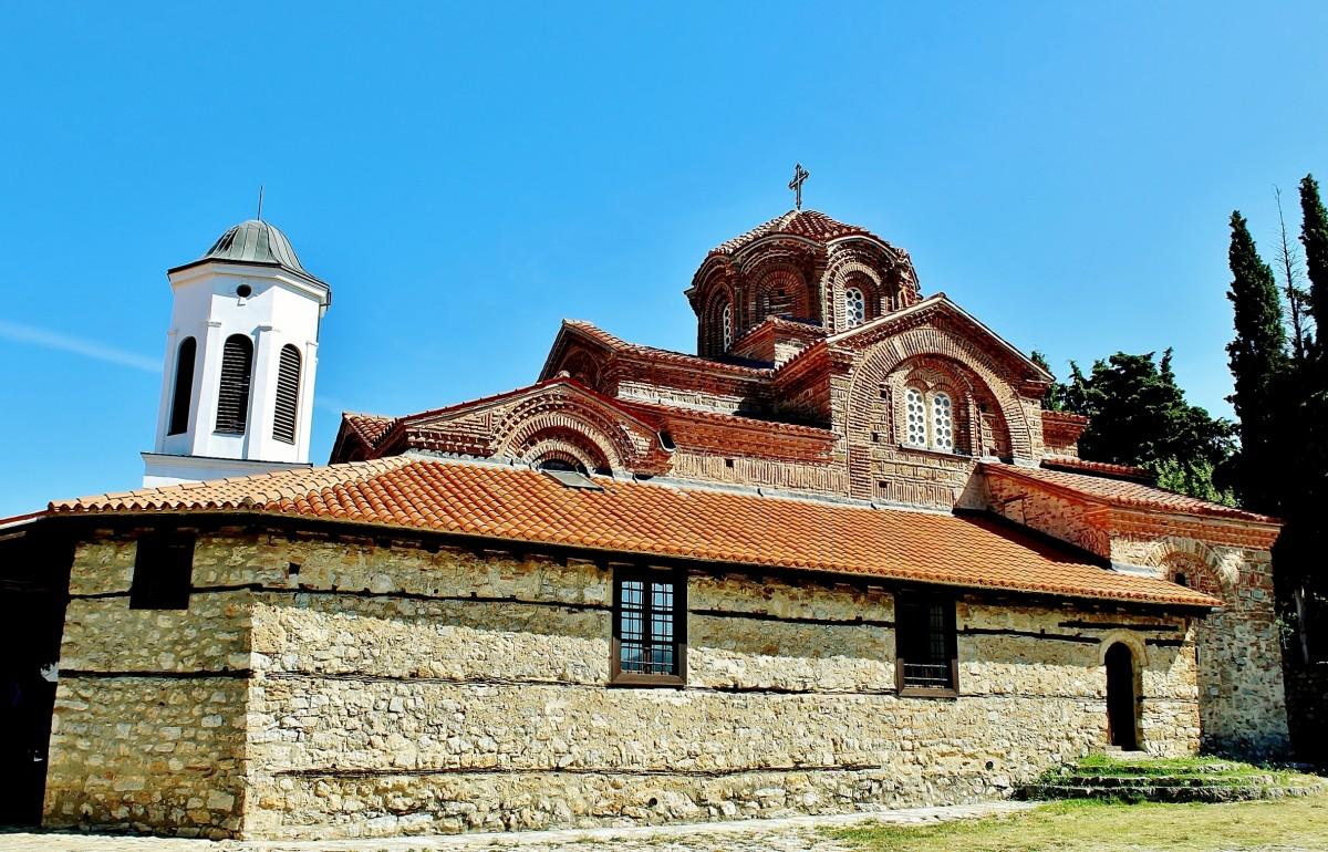 Zdjęcia: Ochryda, płd.-zach.Macedonia Północna, Cerkiew Przenajświętszej Bogurodzicy z 1295 roku, MACEDONIA