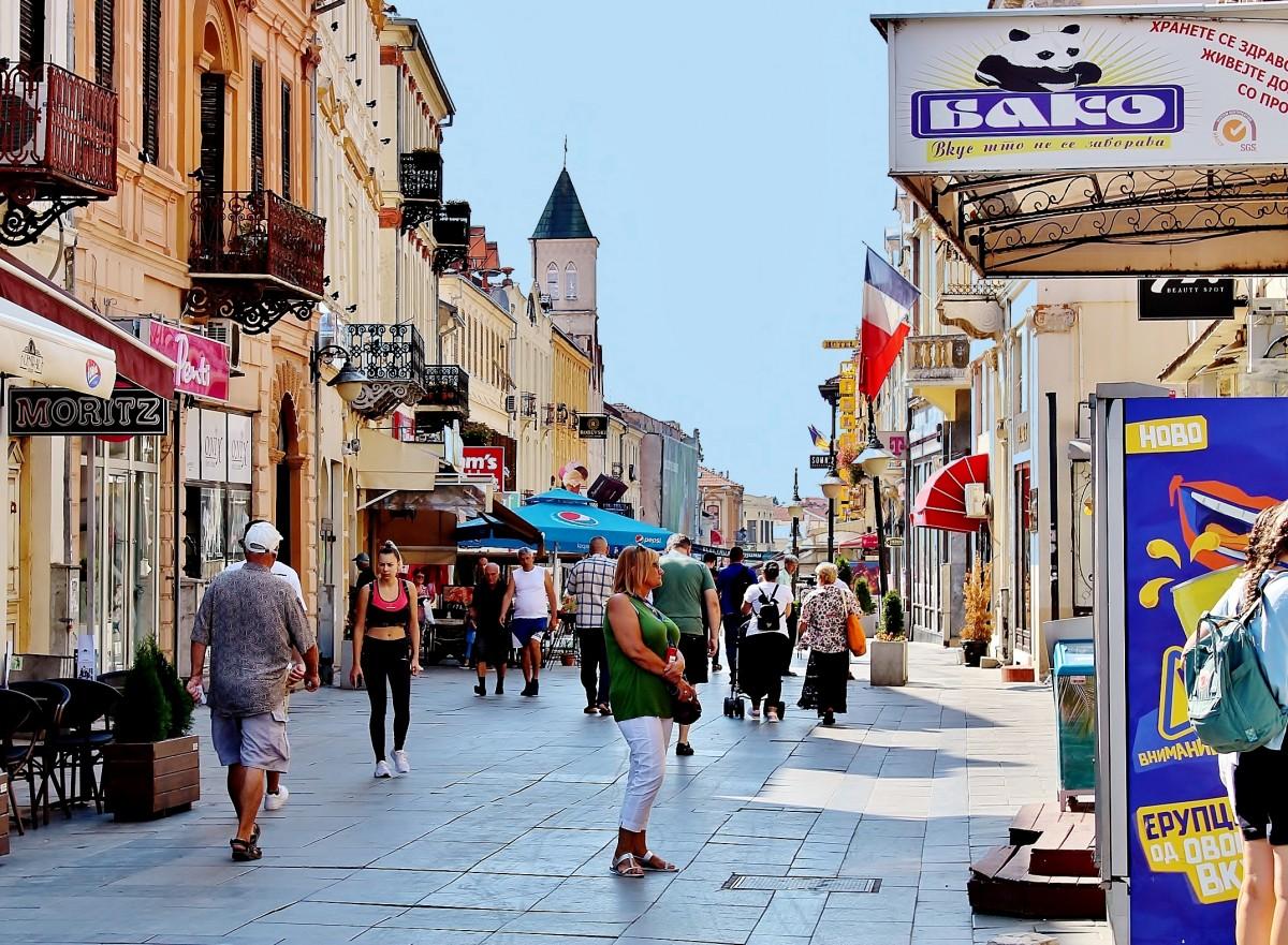 Zdjęcia: Bitola, płd.-zach.Macedonia Północna, Uliczka w Bitoli, MACEDONIA