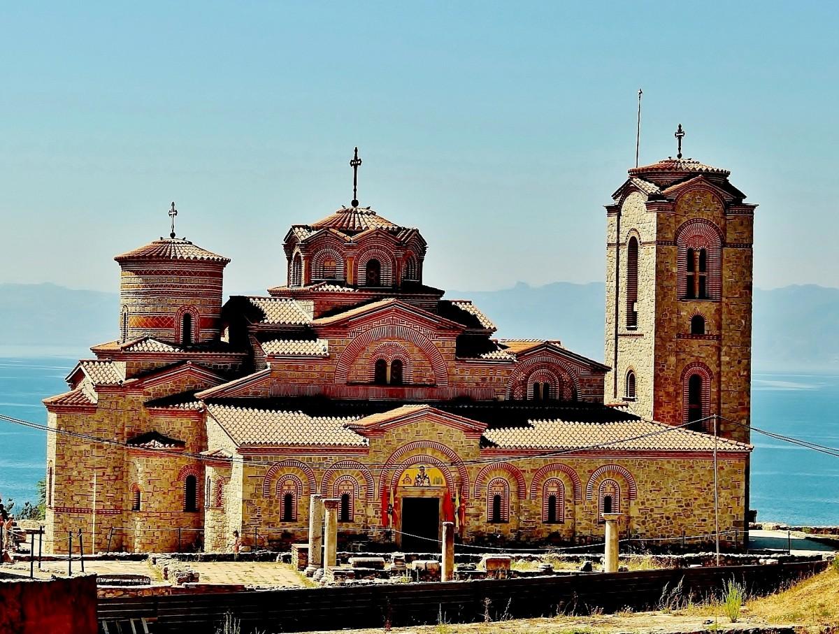Zdjęcia: Ochryda, płd.-zach.Macedonia Północna, Cerkiew św.Klemensa i św.Pantelejmona, MACEDONIA