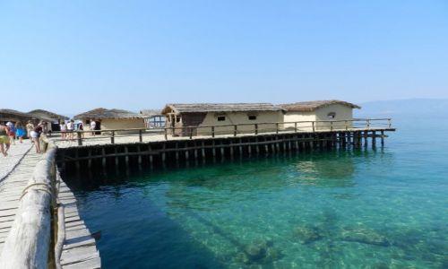 Zdjecie MACEDONIA / Wybrzeże jeziora / Ohrid, Struga / Muzeum na wodzie2