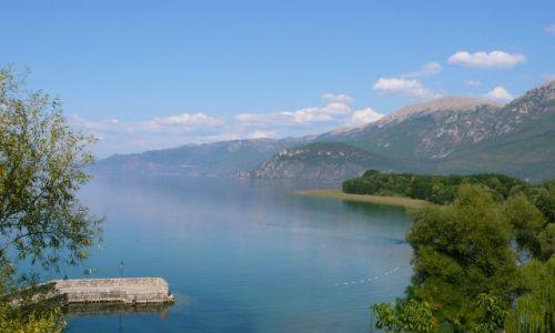 Zdjęcie MACEDONIA / - / Sveti Naum / Widok na Jezioro Ochrydzkie