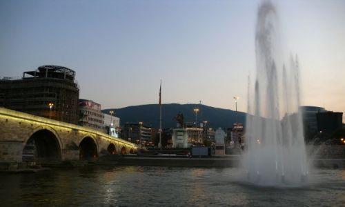 Zdjęcie MACEDONIA / - / Skopje / Widok na  Plac Macedonia