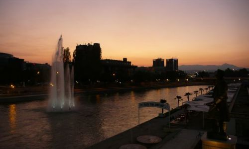 Zdjęcie MACEDONIA / - / Skopje / Vardar + plaża miejska