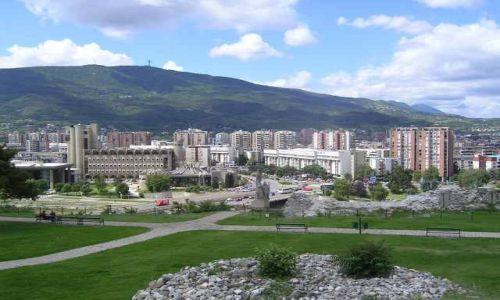 Zdjecie MACEDONIA / brak / Skopje / panorama Skopje