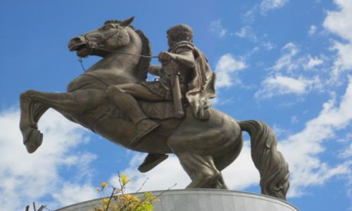 Zdjęcie MACEDONIA / - / Skopje / Pomnik Aleksandra Macedońskiego