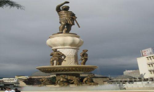 Zdjęcie MACEDONIA / - / Skopje / Pomnik ojca Aleksandra Macedońskiego
