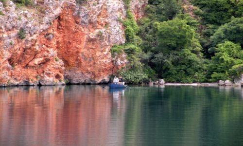 Zdjęcie MACEDONIA / Ochryd / jezioro Ochrydzkie / ... w dwóch kolorach