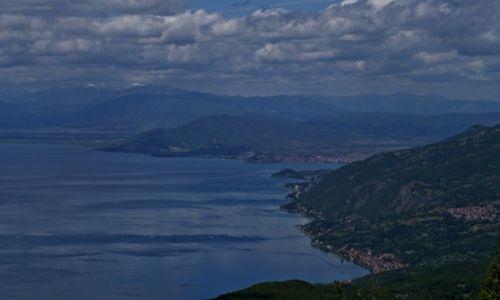 Zdjęcie MACEDONIA / Ochryd / góry Galicica / widok na jezioro