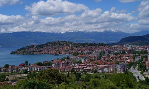 Zdjęcie MACEDONIA / Ochryda / góry Galicica / Widok na Ochryde