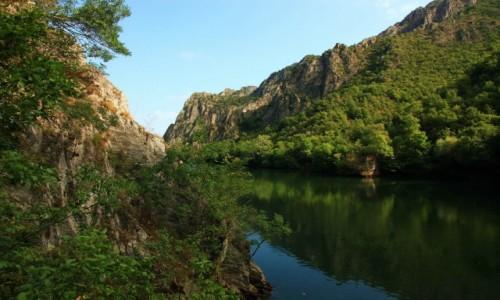 Zdjęcie MACEDONIA / Skopje / Kanion Matka / Rzeka Treska