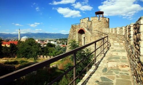 Zdjęcie MACEDONIA / Skopje / Twierdza Kale / Urwane mury