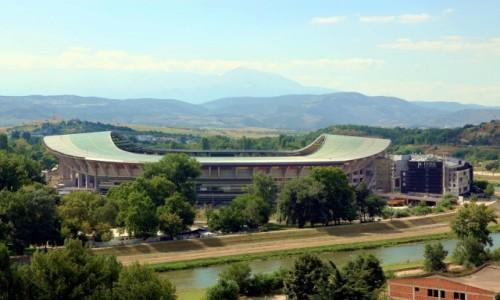 Zdjęcie MACEDONIA / Skopje / Rzeka Wardar / Arena Narodowa im. Filipa II Macedońskiego