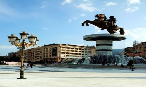 Zdjęcie MACEDONIA / Skopje / Plac Macedoński / Pomnik Aleksandra Wielkiego