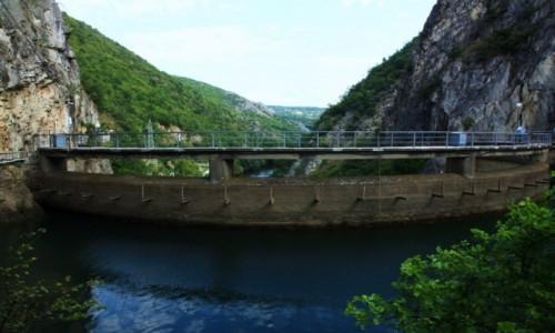 Zdjecie MACEDONIA / Skopje / Kanion Matka  / Zapora wodna na rzece Treska