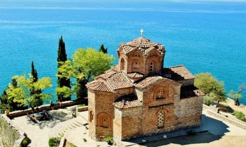 Zdjęcie MACEDONIA / płd.-zach.Macedonia Północna / Ochryda / Cerkiew św.Jana Teologa z XIV wieku