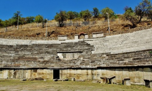 Zdjecie MACEDONIA / płd.-zach.Macedonia Północna / Bitola / Heraklea Linkestis - ruiny teatru