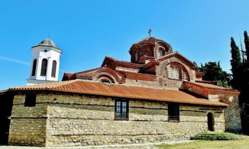 MACEDONIA / płd.-zach.Macedonia Północna / Ochryda / Cerkiew Przenajświętszej Bogurodzicy z 1295 roku