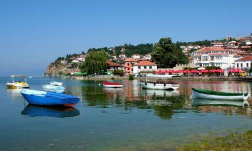 Zdjęcie MACEDONIA / - / Ochryda / Niebieska łódka