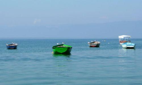 MACEDONIA / - / Ochryda / Zielona łódka